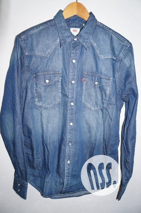 「NSS』LEVI'S LEVIS DENIM SHIRT 65816 0160 水洗 長袖 牛仔襯衫 M