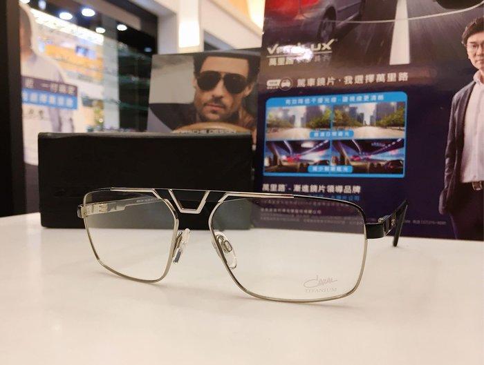 精光堂眼鏡 CAZAL 德國手工框 雙槓雙色鈦金屬材質設計 鮮明獨特的風格 經典百搭的單品 7031