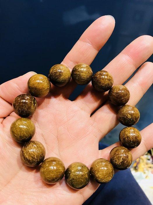 (( 上品堂))頂級銅鈦晶大手珠.收藏款~清透滿絲,磁場超強,重88g只給第一標.