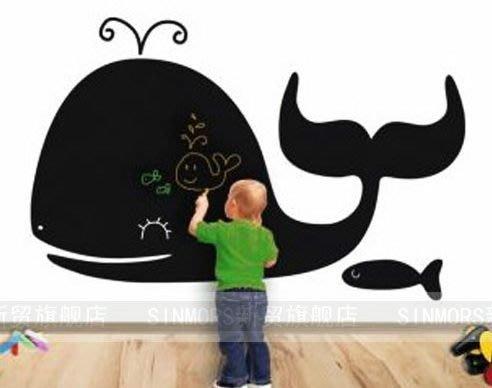 小妮子的家@鯨魚黑板貼壁貼/牆貼/玻璃貼/汽車貼/安全帽貼/磁磚貼/家具貼