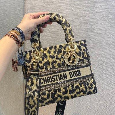 迪奧 Dior 豹紋 黛妃包