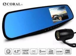 【行車達人】送16GC10 CORAL R2+ 後視鏡型 前後鏡頭 4.3吋螢幕 行車紀錄器