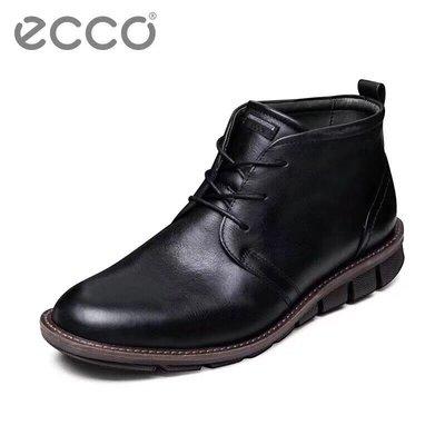 ECCO愛步 602524傑裏米休閑系列 高幫 皮靴男鞋靴子皮鞋