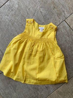 法國正品 jacadi 向日葵黃色洋裝 6M 含包屁褲 上衣