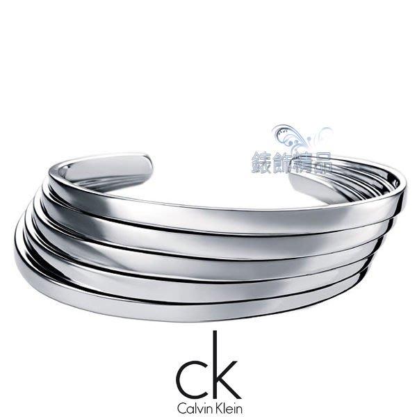 【錶飾精品】CK JEWELRY KJ76AB0101 Calvin Klein 飾品 開口式 手環 (銀)316L白鋼