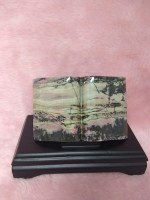 天然玫瑰石一本萬利擺件 玫瑰石 雅石 風水石 桌上型擺件