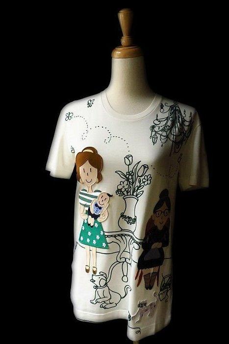 *Beauty*DOLCE&GABBANA米白媽媽BABY短袖棉T恤I36號 10000 元WE17 日本旗艦店限定