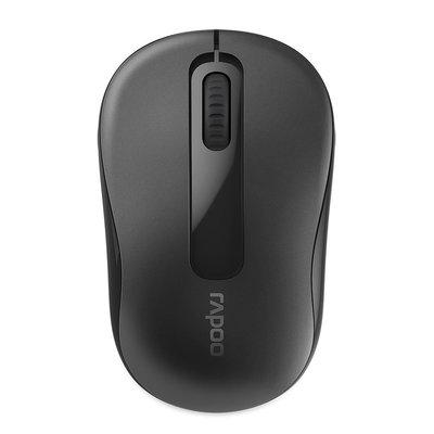 鶴雲網路 Rapoo 雷柏 M10 Plus 黑 無線滑鼠/光學滑鼠 2.4GHz 迷你接收器 1000DPI 全新