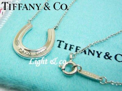 【Light & co.】專櫃真品 Tiffany & Co 純銀 1837 馬蹄 項鍊 horesesho 新款