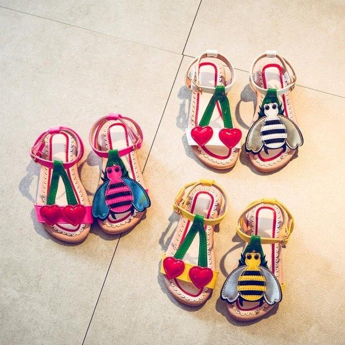 2018夏季新女童可愛卡通涼鞋兒童沙灘鞋時尚甜美防滑寶寶公主鞋