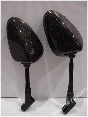 【貝爾摩托車精品店】SIMOTA 碳纖維 CARBON 卡夢 後視鏡 後照鏡 街車款 支架 80mm 100mm