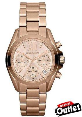 全球購.COM /  Michael Kors 玫瑰金熱吻巴黎三環計時手錶腕錶  經典手錶 MK5799!可分期!