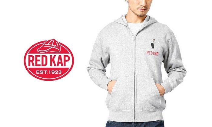 GOODFORIT / 工作品牌RED KAP日線磨毛復古紅帽標誌連帽拉鍊外套/M、L