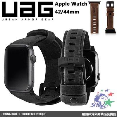 詮國 - UAG Apple Watch 42/44mm 皮革錶帶 / 兩色可選 / 台灣公司貨