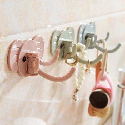 居家家強力粘膠掛鉤廚房壁掛免釘門后掛衣鉤創意浴室墻壁無痕粘鉤