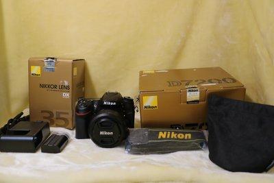 新古機保固同新品【宏進】NIKON D7200 單眼相機 含35MM F1.8鏡頭 (國祥公司貨)
