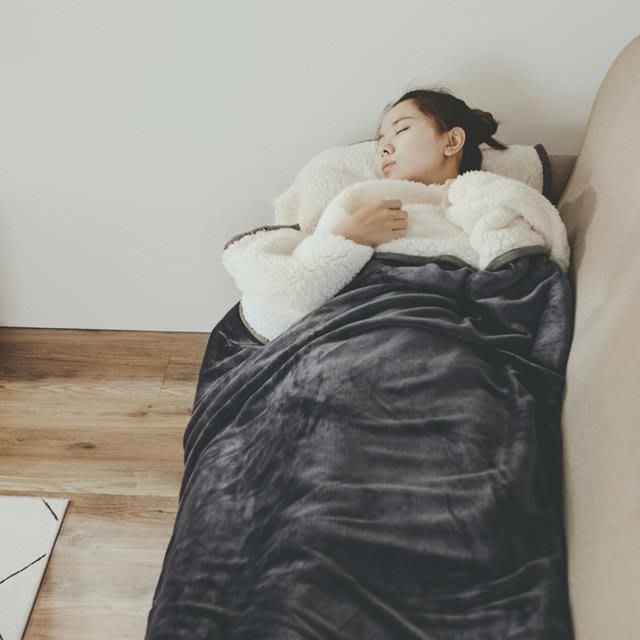 睡袋 銀河灰 加厚版法蘭羊羔絨睡袋毯(1.64kg)-絲薇諾
