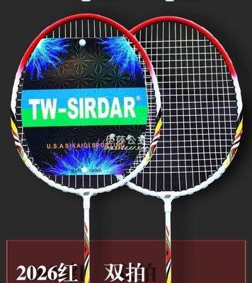 綠光街鋪 羽毛球拍大人學生比賽初級 2支裝雙拍情侶款羽毛球拍S258
