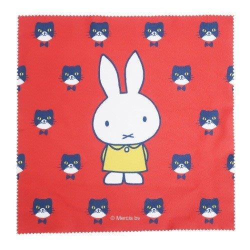 《散步生活雜貨-文具散步》日本進口 MARIMO - Miffy and cat 米飛兔 眼鏡擦拭布DBM-151