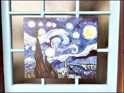 複製無框油畫50*60 世界名畫 梵谷在阿爾斯的臥房星空星夜鳶尾花豐收布置蓋電箱掛畫壁貼牆壁裝飾品【歐舍家飾】