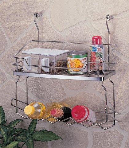 ☆成志金屬☆#304不鏽鋼調味料罐架S-400-2F,瓶罐架,廚房置物架,作工細緻,掛桿可用