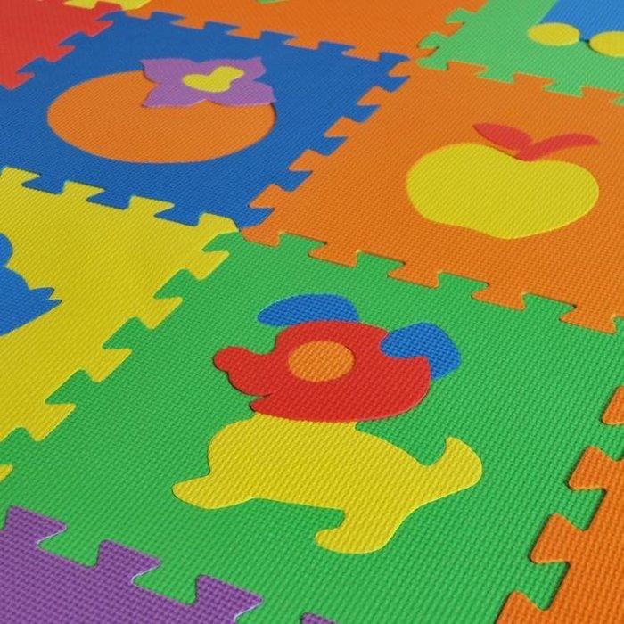 積木海綿墊子地墊臥室家用房間泡沫地板拼裝動物拼圖可愛卡通動漫ATF