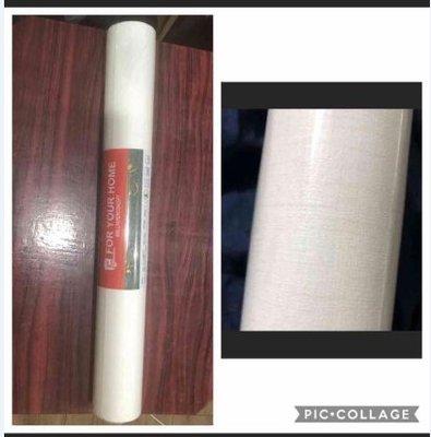 時尚簡約風米白色亞麻紋壁紙(ㄧ捲)