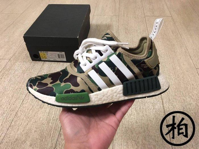 【柏】優質二手 ADIDAS NMD R1 x BAPE A BATHING APE 綠迷彩 BA7326 女鞋 US7