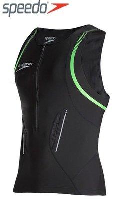 ~有氧小舖~SPEEDO新款 3T鐵人三項運動專用泳衣 上衣 Comp 三鐵衣 黑-綠