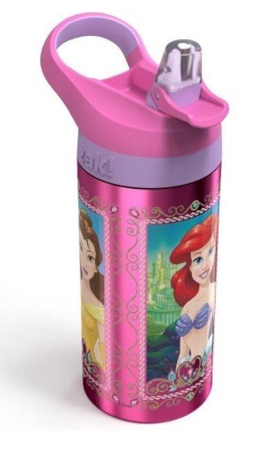 AQI BUY 迪士尼 公主系列 愛麗兒 仙杜瑞拉 貝兒 彈蓋式吸管 兒童不鏽鋼水壺 560ml 美國正版 現貨