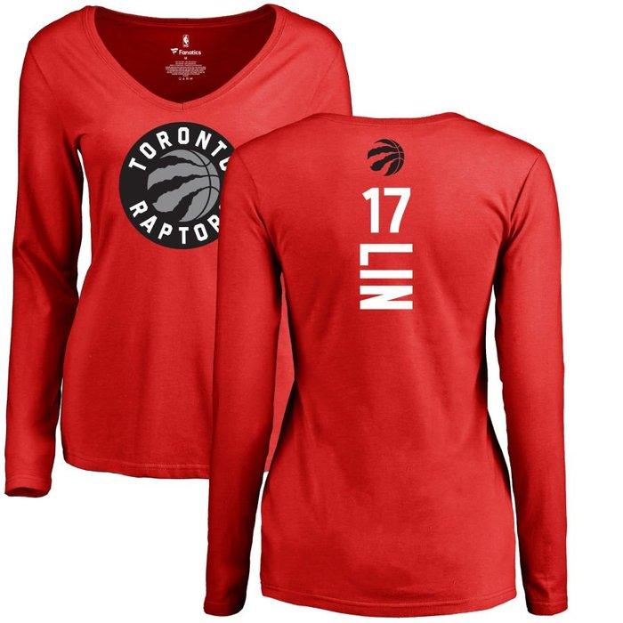 《FOS》NBA 女生 林書豪 多倫多暴龍隊 長T 長袖 V領 t恤 純棉 Jeremy Lin Raptors 送禮