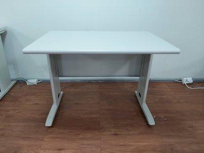 香榭二手家具*灰白面100cm CD辦公桌-電腦桌-員工桌-事務桌-鐵桌-業務桌-書桌-OA桌-洽談桌-主管桌-中古傢俱