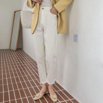 五色-超顯瘦百搭高腰寬鬆休閒褲直筒褲