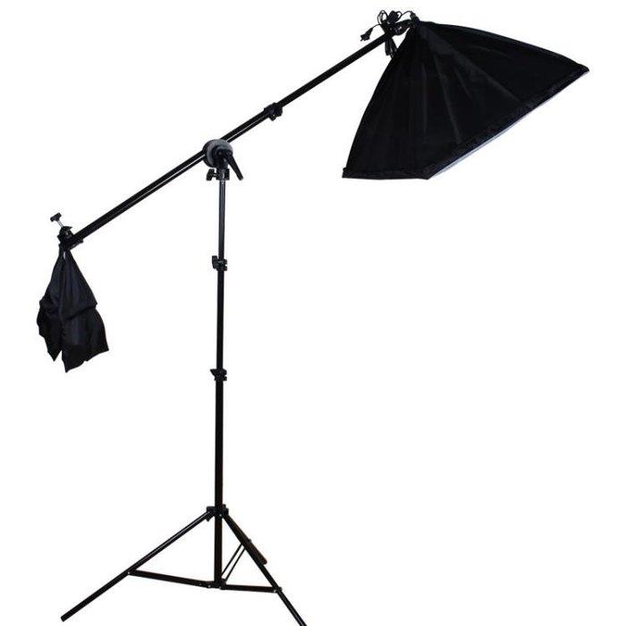 虞光攝影頂燈補光 攝影燈攝影棚 橫臂架 2米燈架 50*70柔光箱YXS