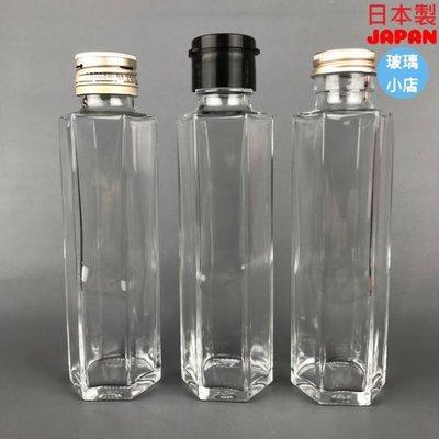 @150細口六角瓶@ 玻璃小店 日本製 浮油花 天氣瓶 梅酒瓶 玻璃瓶 空瓶 酒瓶 醋瓶 容器 果醬 進口