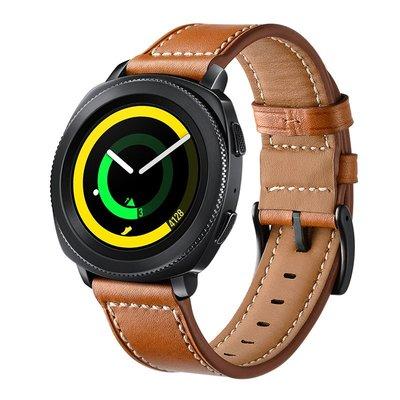 佳明 Garmin Forerunner745 手錶帶 Venu SQ 頭層牛皮 20MM接頭 真皮腕帶 智能手錶帶