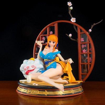 優質版 海賊王GK和服娜美和之國手辦模型雕像擺件動漫周邊禮物女*可魯可丫