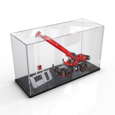 樂高 手辦 適用樂高42082 復雜地形起重機防塵罩透明亞克力展示盒積木收納盒 哆啦A夢的手提袋