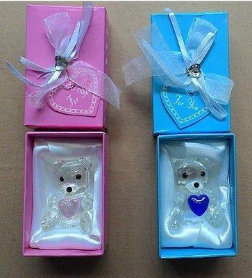 [想愛你]水晶 玻璃熊(1對2隻)
