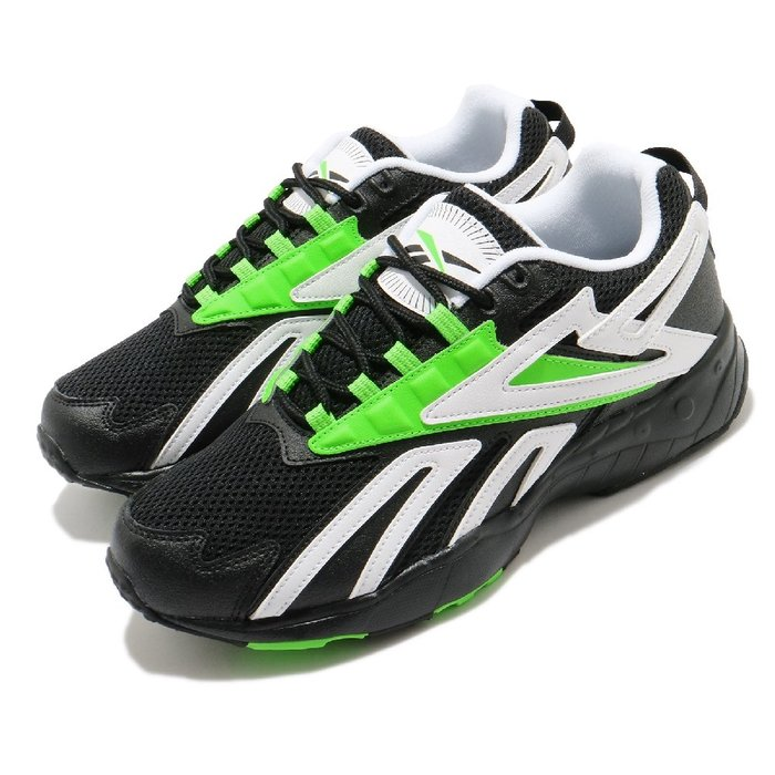 =CodE= REEBOK INTV 皮革透氣網布慢跑鞋(黑白綠) FY1299 INTERVAL 老爹鞋 畢書盡 男女