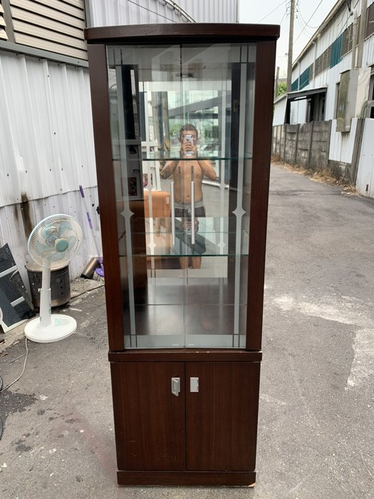 非凡二手家具 【全館自取價】2x6尺胡桃玻璃鏡面展示櫃*書櫃*置物櫃*收納櫃*展示櫃*收藏櫃*玻璃櫃*公仔櫃