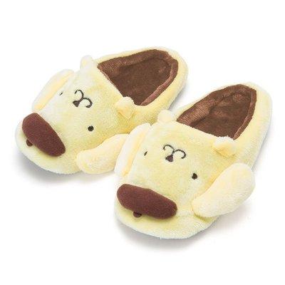 【棠貨鋪】日本 Sanrio 布丁狗大臉造型室內保暖拖鞋