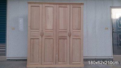幸福家實木傢俱 6尺實木衣櫥,大容量衣櫃, 雙門雙開,最後一只 特價出清中 ( CABINET NO.6 )