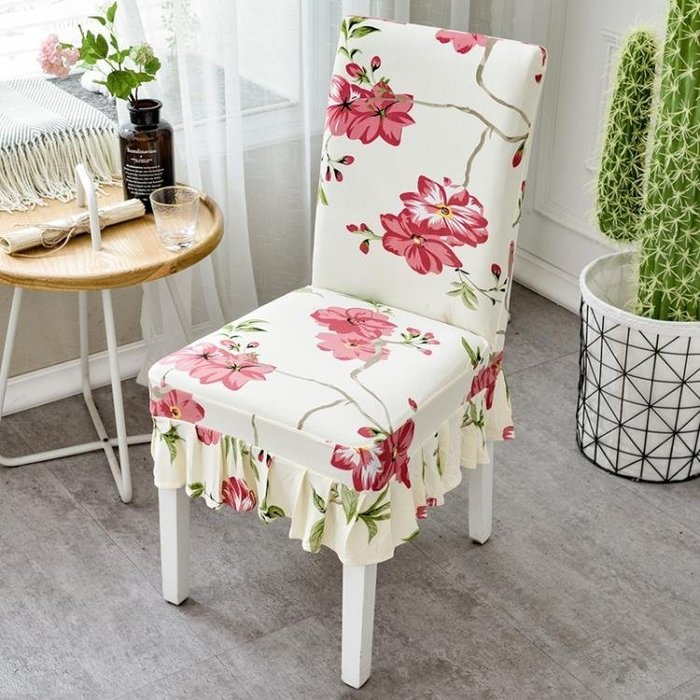 現貨/家用彈力連體餐桌椅子套罩現代簡約凳子套罩酒店餐廳座椅套布藝20SP5RL/ 最低促銷價