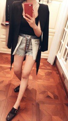 《巴黎拜金女》斜紋絲裡襯羊毛長款修身西服