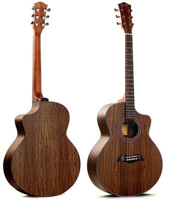 Deviser LS-150N-40 胡桃木合板 木吉他 JF桶身 缺角 民謠吉他 吉他社 社團 團購 初學入門吉他
