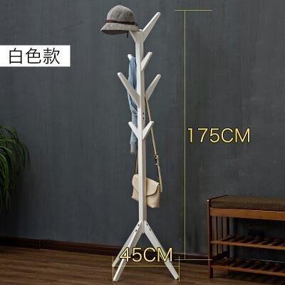 【優上】木馬人 簡易木質落地衣帽架 客廳臥室掛衣架「樹杈款-純淨白」