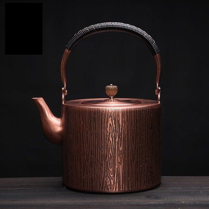 5C精選@2升大容量銅壺紫銅燒水煮茶壺功夫茶具煮茶壺銅壺無塗層
