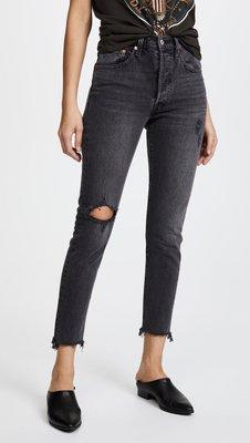 ◎美國代買◎Levi's 501 Stretch Skinny Jeans抽鬚褲口刷破褲管高腰合身牛仔褲