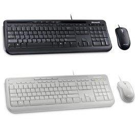 Microsoft 標準滑鼠鍵盤組600 (黑.白)